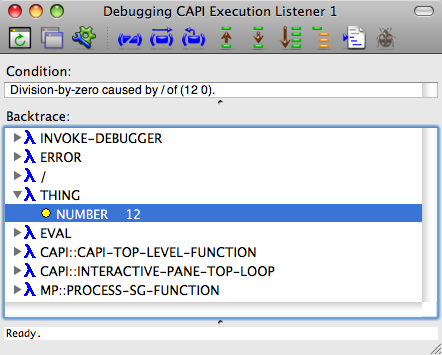 The Debugger tool on Mac OS X.