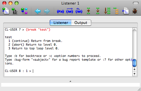 The Listener tool on Mac OS X.